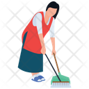 Mopping Housekeeping Cleaning Services Icon