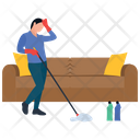 Mopping Services Housekeeping Cleaning Services Icon