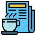 Coffee Cup Hot Coffee News Paper Icon