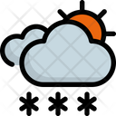 Sun Snow Weather Icon