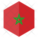 Morocco Flag Hexagon Icon