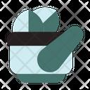 Mortar Hospital Medical Icon