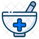 Medical Healthy Mortar Icon