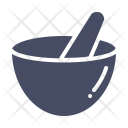 Mortar Pestle Hand Icon