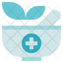 Pharmacy Mortar Herbal Bowl Icon