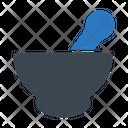 Mortar Pestle Organic Icon