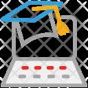 Mortarboard Graduation Square Icon