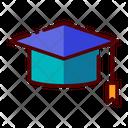 Mortarboard Graduation Academic Icon