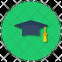 Graduation Cap Mortar Cap Student Hat Icon