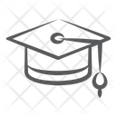 Mortarboard Academic Cap Graduation Hat Icon