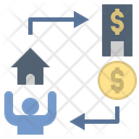 Mortgage Refinance Exchange Icon