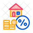 House Mortgage Service Icon