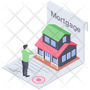 Real Estate Mortgage Property Home Loan Icon