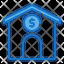 Mortgage Loan Bank Coin Icon