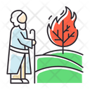Moses And The Burning Bush Icon