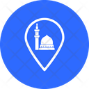 Mosque Location Pointer Map Pin Icon