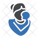 Mother Care Child Icon