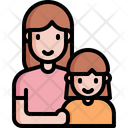 Mother Girl Parents Icon
