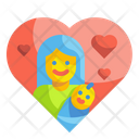 Mother And Child Love Mother Love Heart Icon
