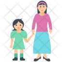 Mother And Daughter Icon