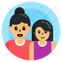Motherhood Mother And Daughter Mom And Daughter Icon