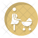 Mother Stroller Mother Mom Icon