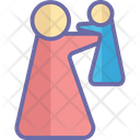 Mother carry kid Icon