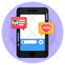 Mobile Chat Mother Chat Sms Icon
