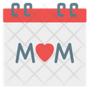 Mother Day Mothers Day Time And Date Icon