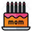 Mother Day Cake Icon
