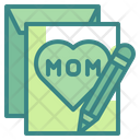 Mother Day Card Greetings Card Letter Icon