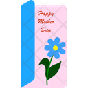 Mother Day Card Flower Woman Icon