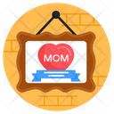 Hanging Board Mother Day Frame Mother Day Banner Icon