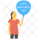 Kids Balloon Mother Icon