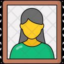 Mother Photo Portrait Photoframe Icon