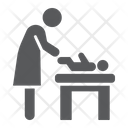 Mother Swaddle Baby Icon