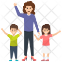 Children Motherhood Single Icon