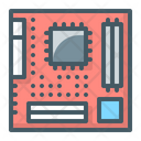 Motherboard Processor Chip Icon