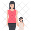 Mother With Child Single Parent Family Icon