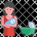 Motherhood Mummy Holding Baby Icon