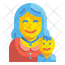 Motherhood Pregnant Woman Icon
