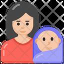 Newborn Neonate Motherhood Icon