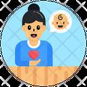Motherhood Child Love Neonate Love Icon