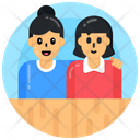 Motherhood Mom And Kid Mother And Daughter Icon
