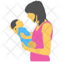 Motherhood Mother Care Icon