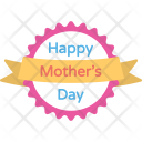 Mothers Day Badge Icon