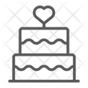 Mothers Day Cake Cake Stacked Icon