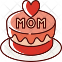 Mothers Day Cake Icon