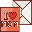 Mothers Day Greeting Card I Love Mom Mothers Day Icon