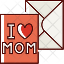 Mothers Day Greeting Card Icon